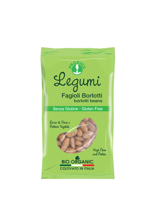 Probios gluten free brown borlotti beans in a packaging of 400g