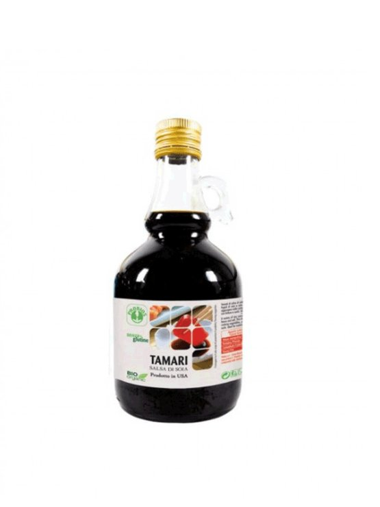 Probios gluten free tamari sauce in a glass bottle of 500ml
