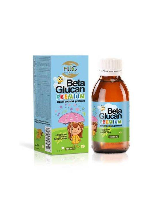 Hug Your Life Beta Glucan premium in dark glass bottle of 150ml