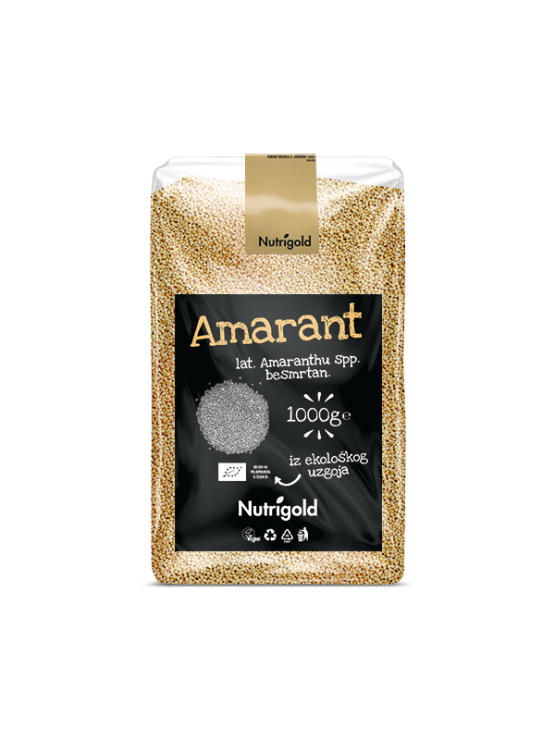Amaranth, ecologically cultivated in a plastic package, 1000 grams