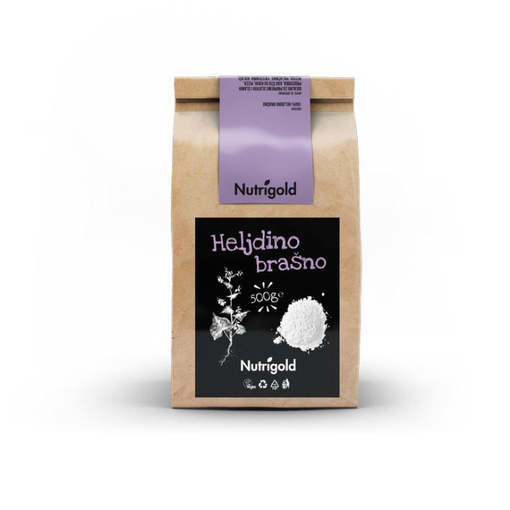 Nutrigold buchwheat flour in a packaging of 500g