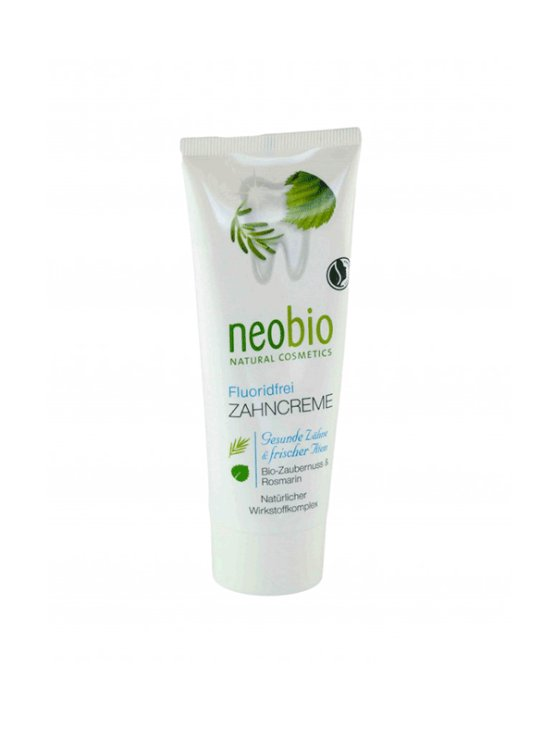 Neobio organic toothpaste without fluoride in a packaging of 75ml