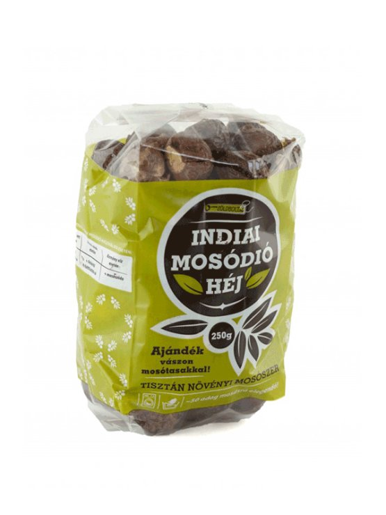Zoldbolt soap nuts in a 250g bag with gratis canvas bag