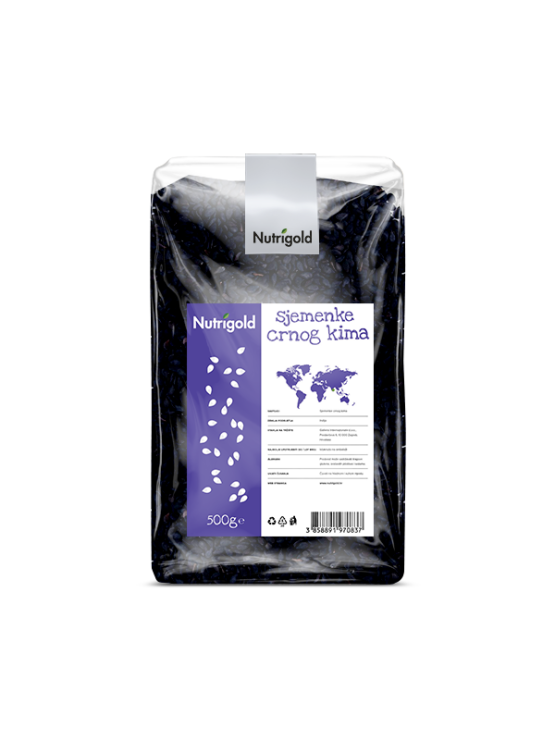 Nutrigold Black Cumin Seeds in a packaging of 500g