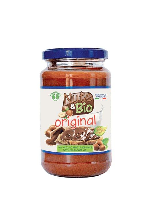 Probios gluten free hazelnut spread in a 400g jar