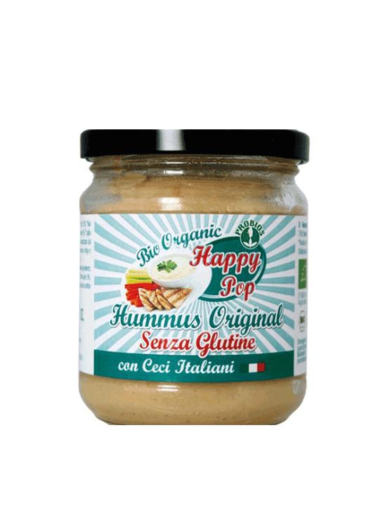 Probios organic and gluten free hummus spread in a jar of 180g
