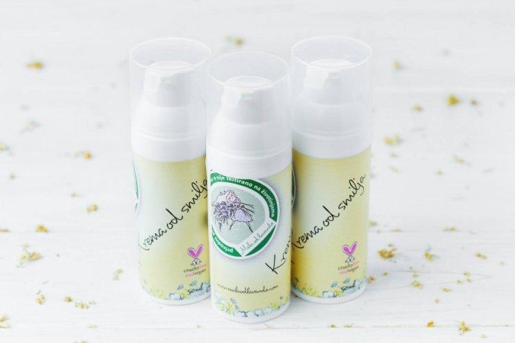 Mala od lavande face cream immortelle in a packaging of 50g