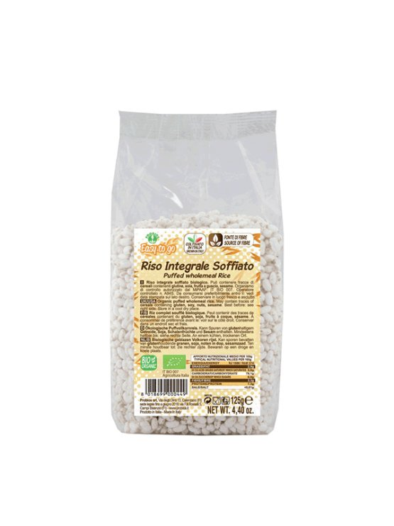 Probios brown rice pops in a packaging of 125g