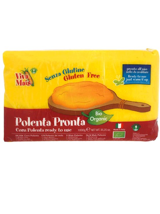 Probios instant organic polenta in a 1000g packaging