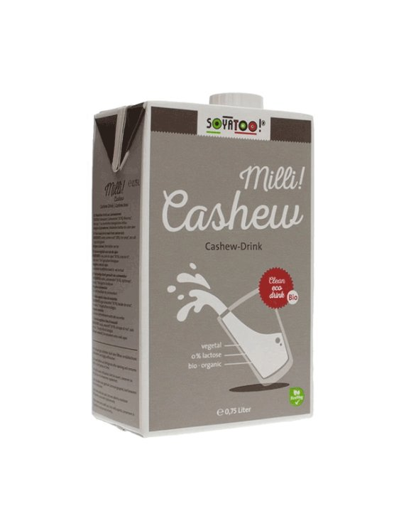Soyatoo cashew drink in a beverage carton packaging of 0,75l