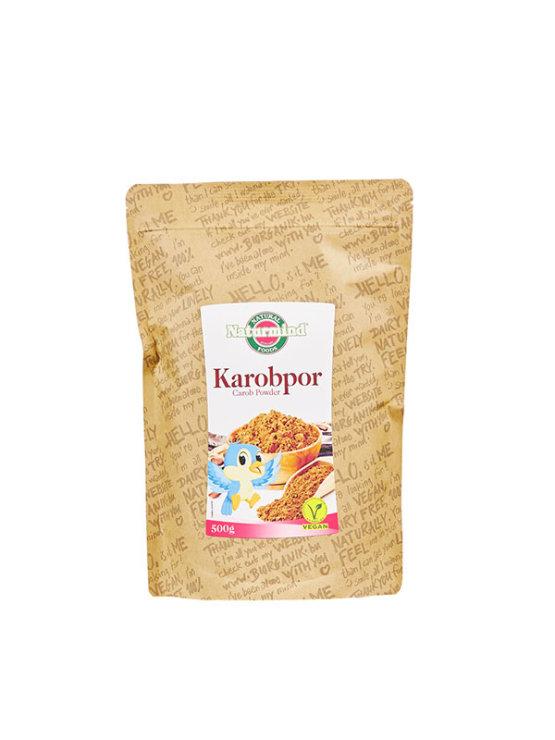 Naturmind dark carob powder in a packaging of 500g
