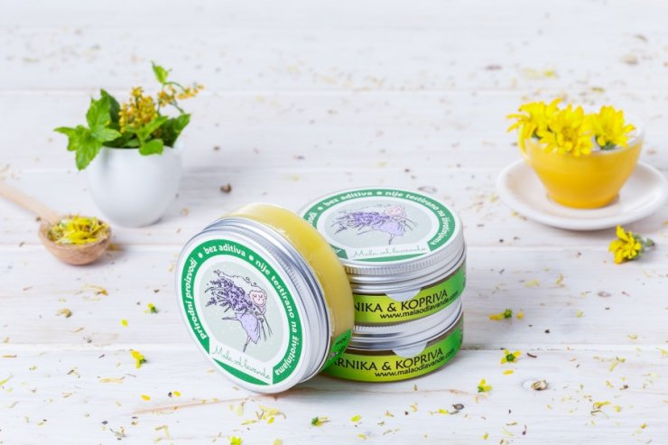 Mala od lavande arnica and nettle ointment in a 50ml packaging