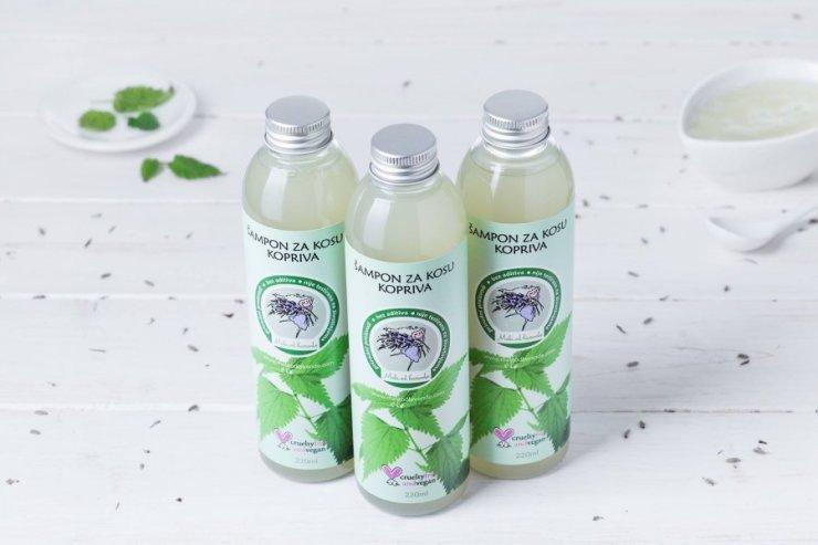 Mala od lavande nettle hair shampoo in a packaging of 220ml