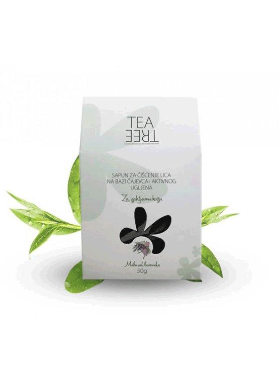 Mala od lavande tea tree oil facial soap in a packaging of 50g