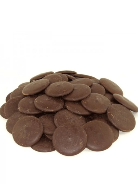 Nutrigold organic cocoa paste wafers in a cylinder shaped packaging of 200g