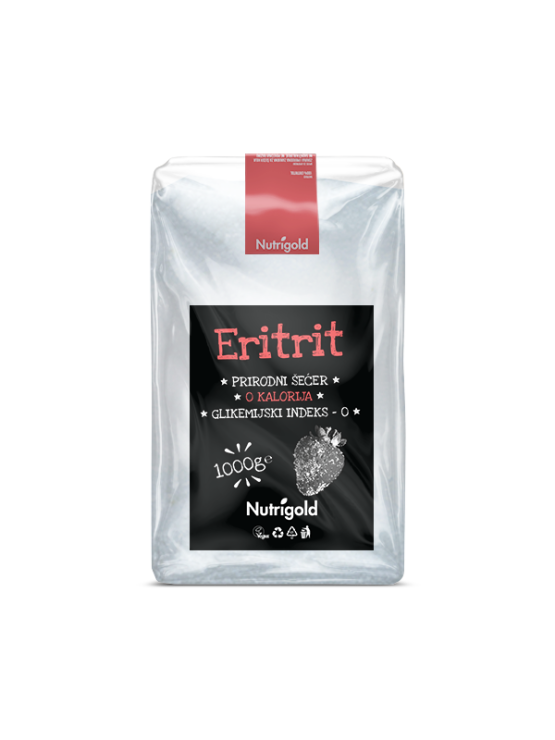 Nutrigold erythritol natural sweetener in a packaging of 1000g