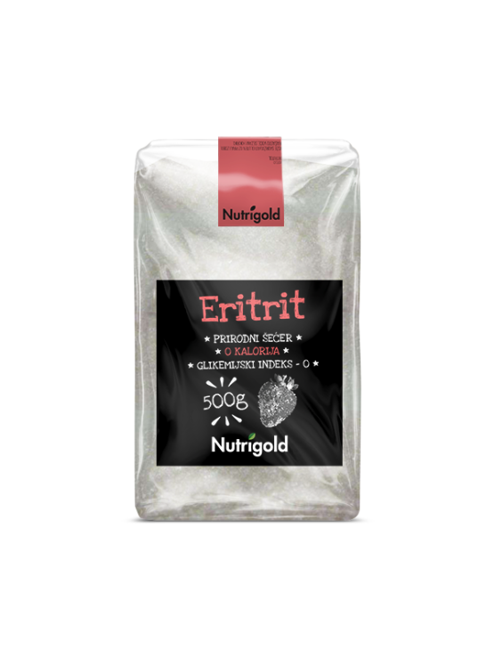 Nutrigold erythritol natural sweetener in a packaging of 500g