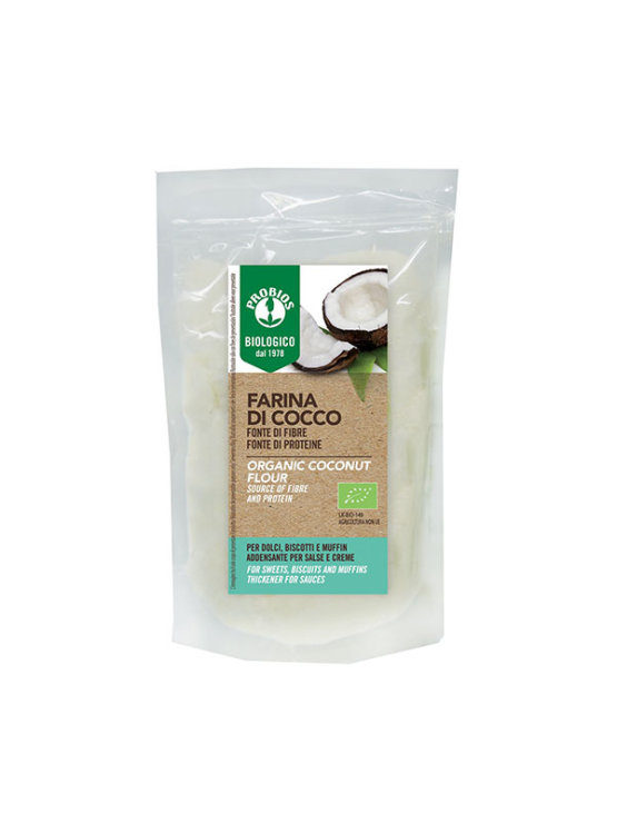 Probios organic and gluten free coconut flour in a 250g packaging