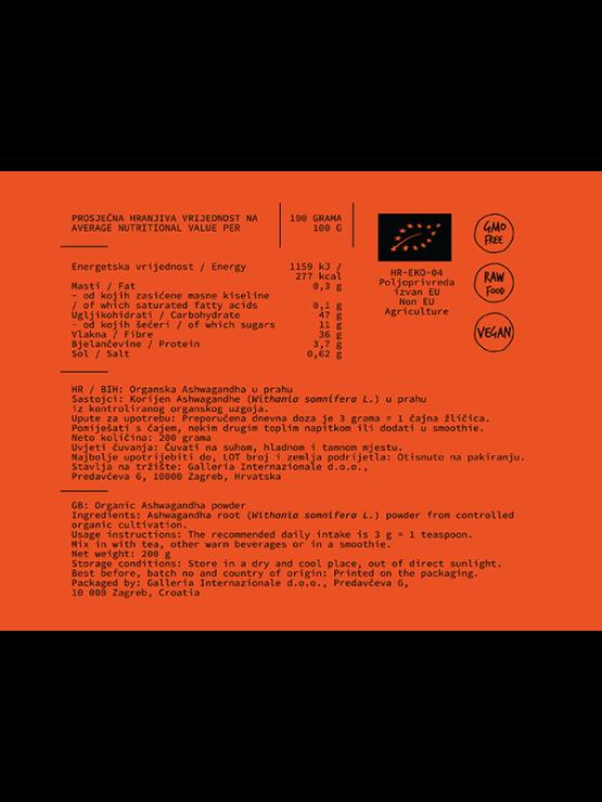 Nutrigold Ashwagandha Powder in a orange tube of 200 grams
