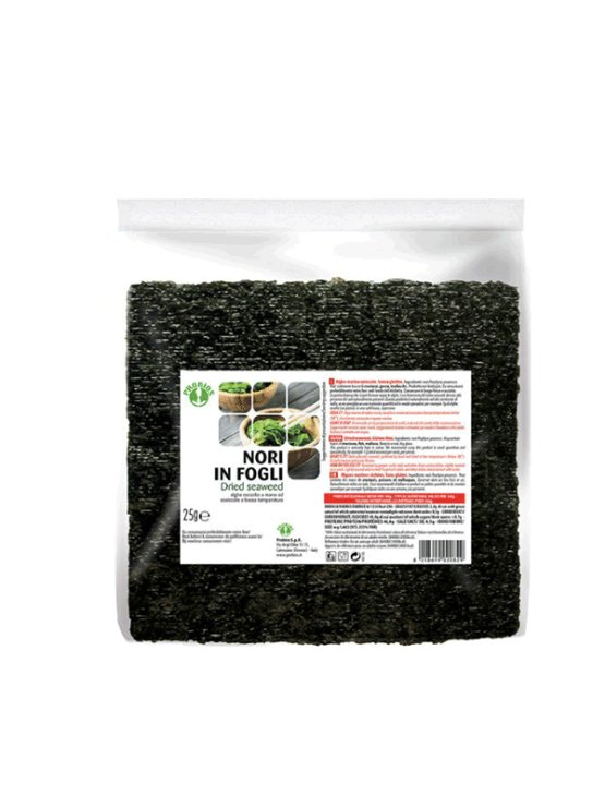 Probios  dried nori seaweed sheetes in a packaging of 15g