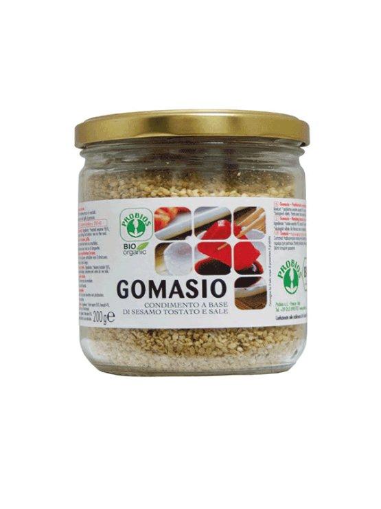 Probios organic gomashio in a 200g jar