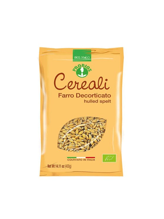 Probios organic hulled spelt in a packaging of 400g