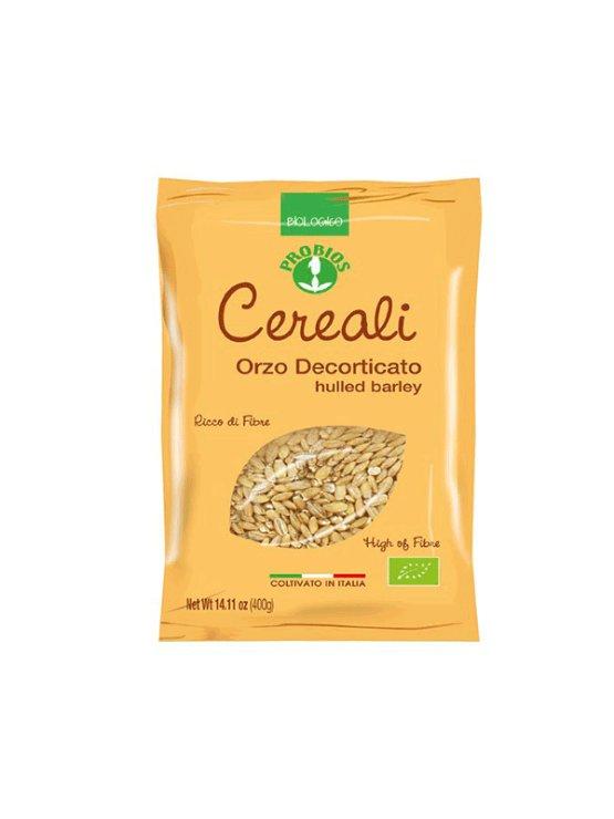 Probios organic hulled barley in a 400g packaging