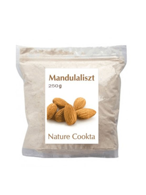 Nature Cookta almond flour in a packaging containing 250g