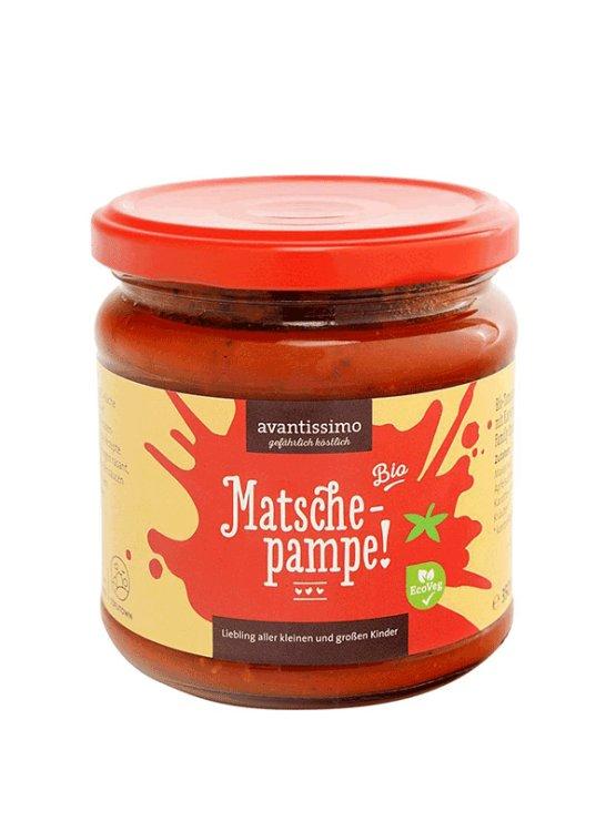 Avantissimo organic tomato sauce in a glass jar of 350ml