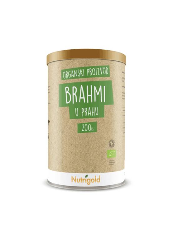 Nutrigold Brahmi powder in 200g brown packaging