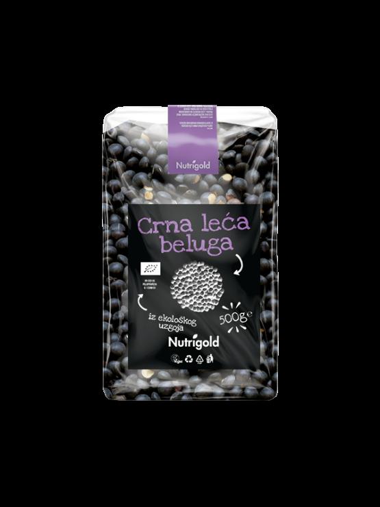 Nutrigold organic black beluga lentils in a packaging of 500g