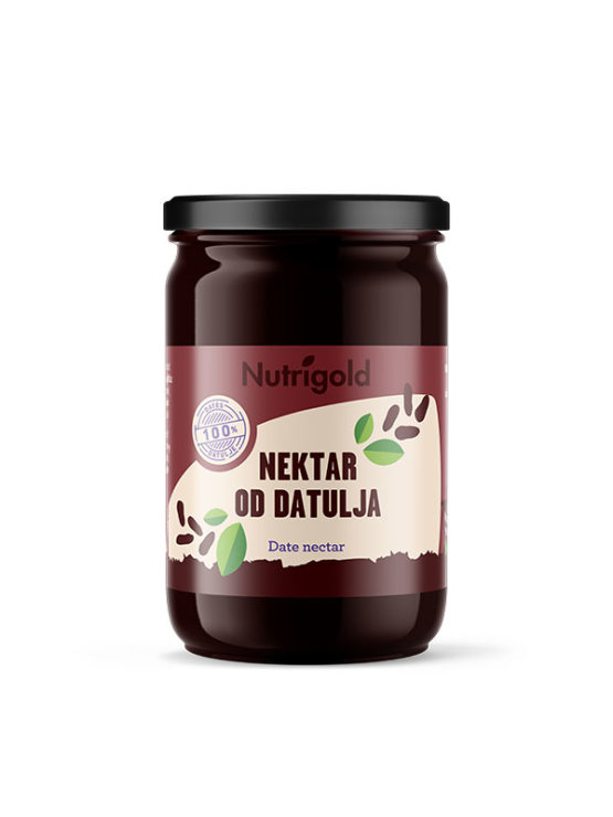 Nutrigold date nectar in a glass jar of 900g