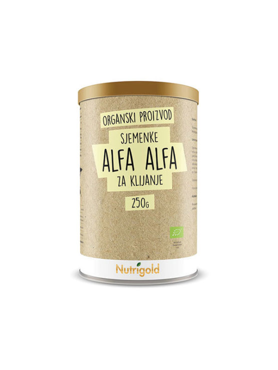 Nutrigold organic seeds alfa alfa for sprouting in a 250 grams packaging