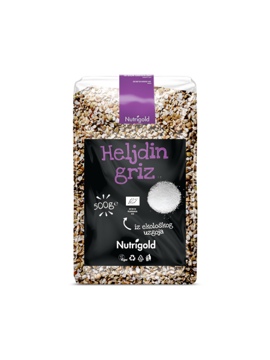 Nutrigold organic buckwheat grits in a packaging of 500g