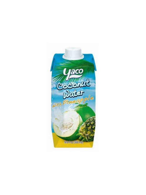 Yaco coconut water with pineapple juice in a beverage carton of 500ml