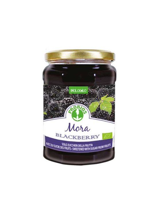 Probios organic and gluten free blackberry spread in a 330g jar