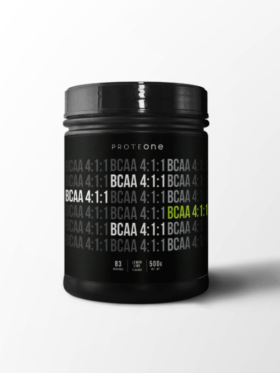Proteone BCAA 4:1:1 Superior lemon and lime in a 500g plastic container