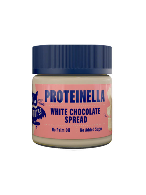HealthyCo Proteinella white chocolate spread in a plastic jar of 200g