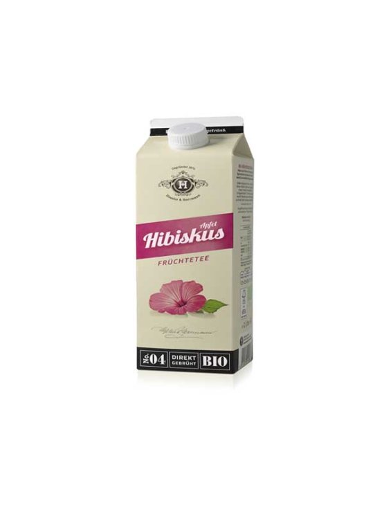 Tbottlers organic apple and hibiscus tea in a 1l beverage carton