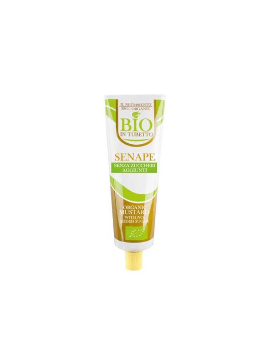 Probios organic mustard free from added sugar and gluten in a tube packaging of 160g