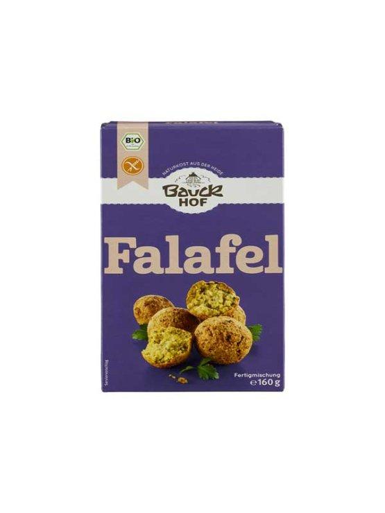 BauckHof organic gluten free falafel mix in a cardboard packaging of 160g