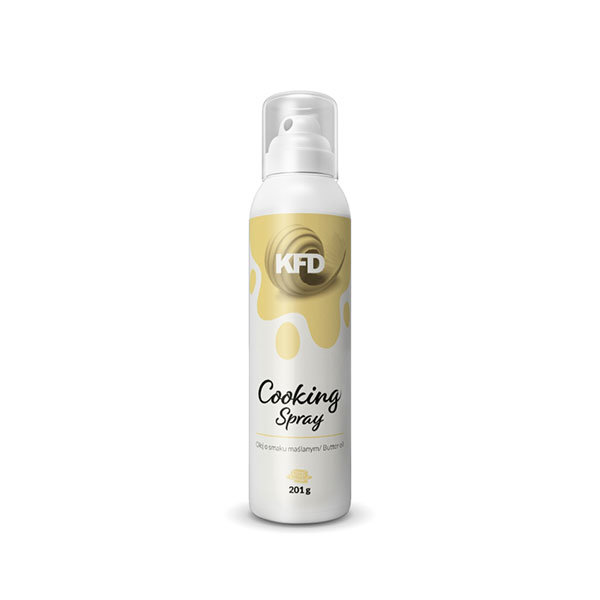 KFD butter flavoured cooking spray in a 201g spray can
