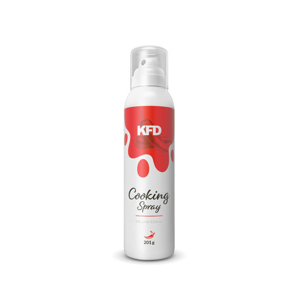 KFD chilli oil cooking spray in a spay can of 201g