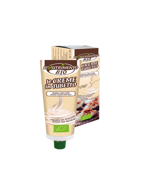 Probios organic and gluten free cream spread in a tube packaging of 160g
