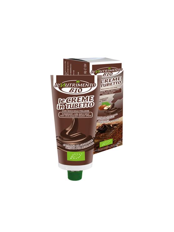 Probios organic dark chocolate and hazelnut spread in a 160g tube