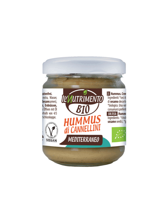 Probios organic almond and beans hummus in a 180g jar