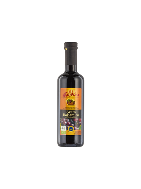 Gustoni organic balsamic vinegar in a 500ml bottle