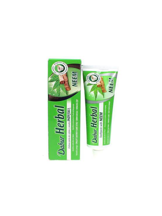 Dabur Ayurvedic neem toothpaste in a packaging of 100ml