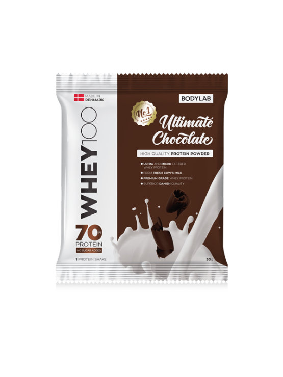 Bodylab whey 100 chocolate in a packaging of 30g