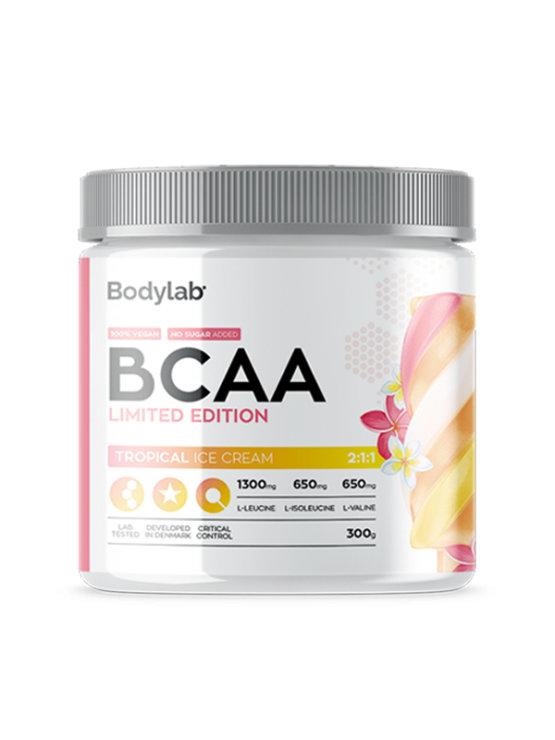Bodylab BCAA tropical ice cream in a packaging of 300g
